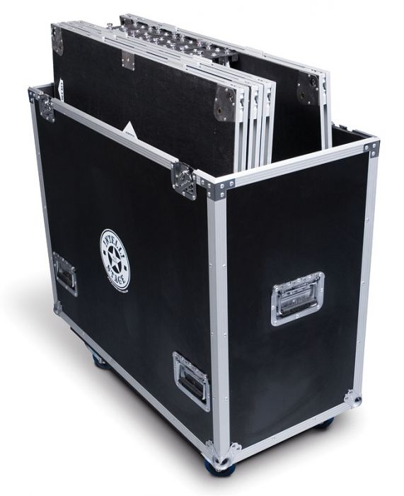 Flight Case for 6 pcs. of 3'x3' platforms with matching risers