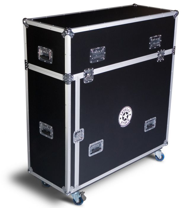 Flight Case for 6 pcs. of 4'x4' platforms with matching risers, front loading door