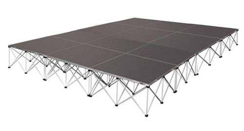 192 SQUARE FOOT STAGE - 12 FEET X 16 FEET STAGE SYSTEM
