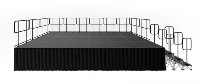 288 Square Foot Deluxe Stage System (12' x 24')