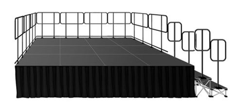 192 Square Foot Deluxe Stage System (12' x16')