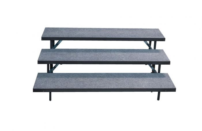 3 TIER STRAIGHT CHORAL RISERS