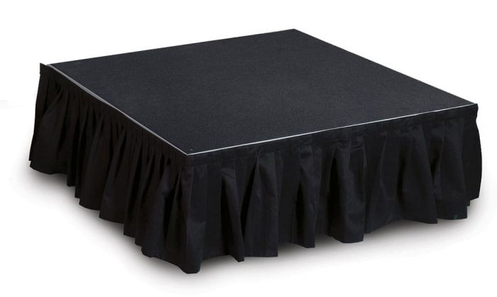 """8' Wide, 24"""" Long Black Stage Skirt"""