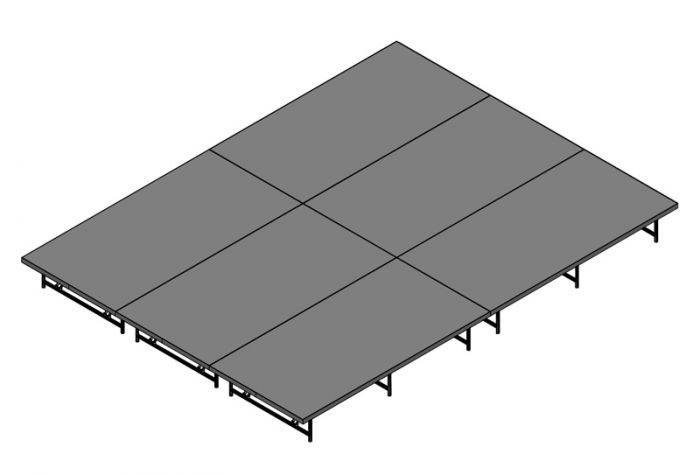 Basic Stage System - 192sq Ft (12ft X 16ft) - Industrial FInish