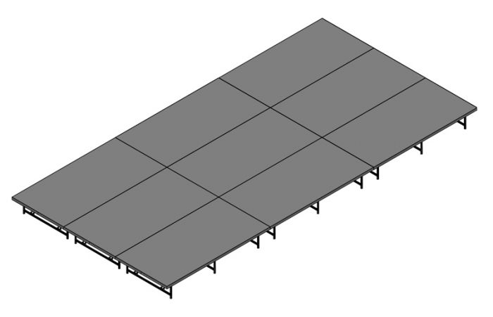 Basic Stage System - 288sq Ft (12ft X 24ft)- Industrial FInish