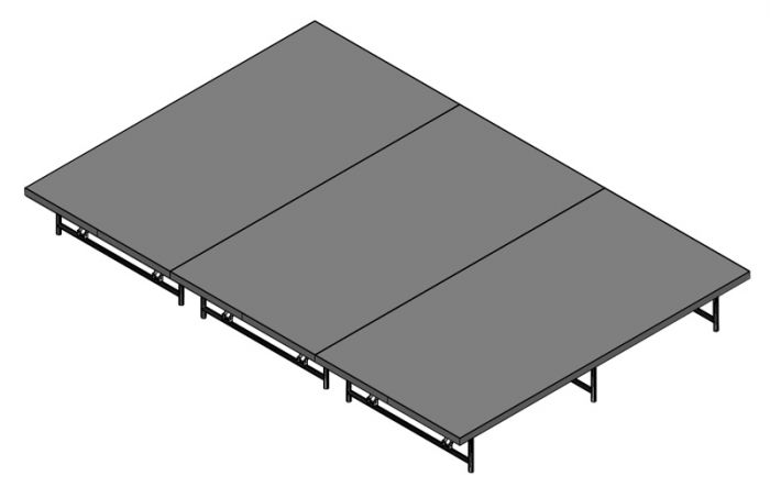 Basic Stage System - 96sq Ft (12ft X 8ft) -Industrial finish